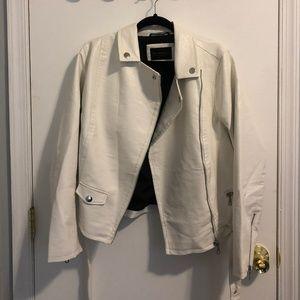 Eloquii White Vegan Leather Moto (size 14/16)